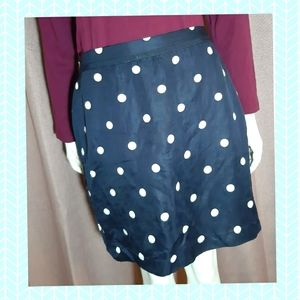 Banana republic skirt polka dots